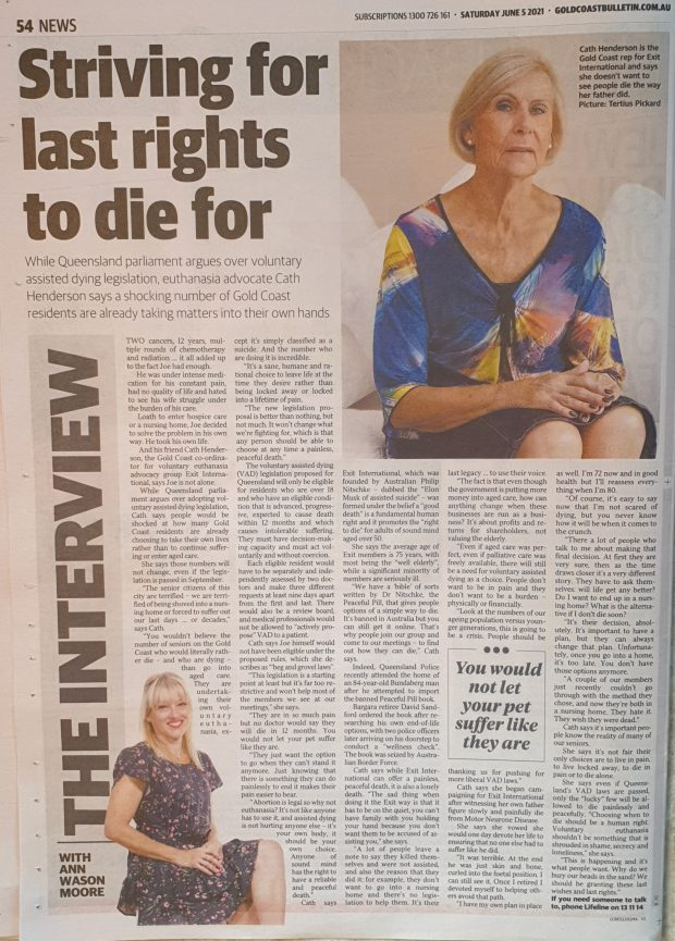 Striving for Last Rights to Die For